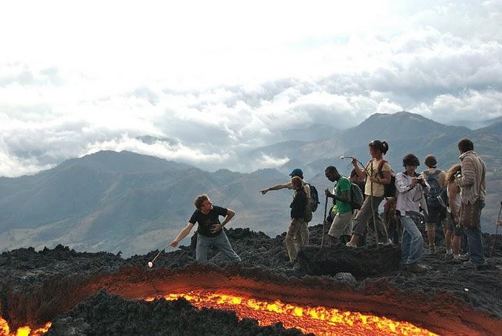 """Detalles de la caminata """"Pintemos  de azul y blanco el Volcán Pacaya"""""""
