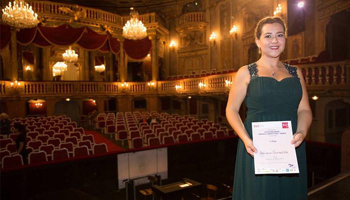 Guatemalteca obtiene primer lugar en certamen de ópera en Viena