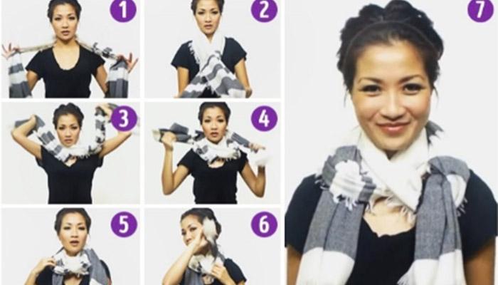 10 formas originales de usar una bufanda o pañuelo