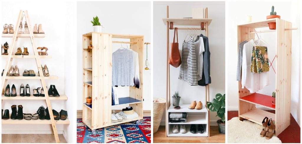 5 ideas creativas y econ micas para organizar tu ropa y for Muebles para colocar zapatos