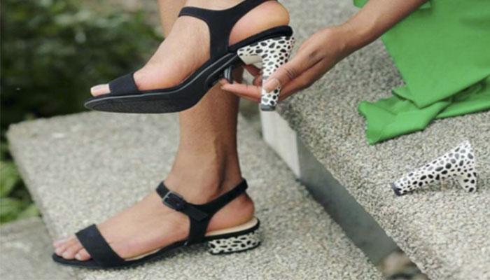 Marca alemana de zapatos crea sandalias con tacones intercambiables