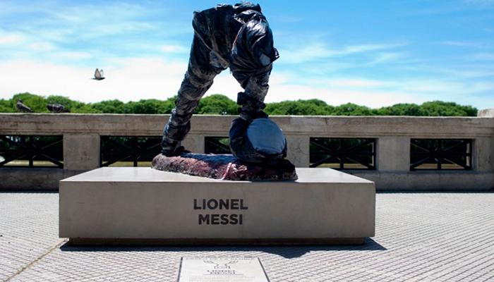 Destruyen estatua de Lionel Messi en Río de la Plata, Argentina