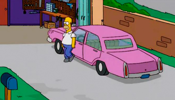 FOX revela la marca y modelo del carro de Homero Simpson