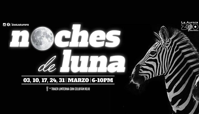 Noches de Luna regresan al Zoológico La Aurora, marzo 2017