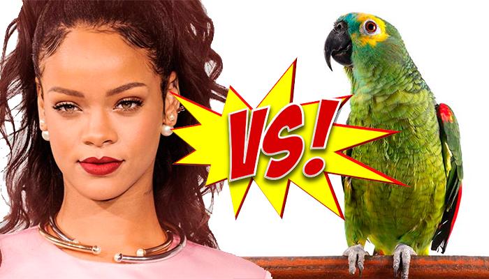Video: Loro le hace competencia a Rihanna cantando