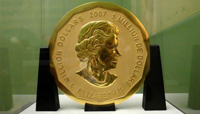 Hombres roban la moneda más grande del mundo en Berlín