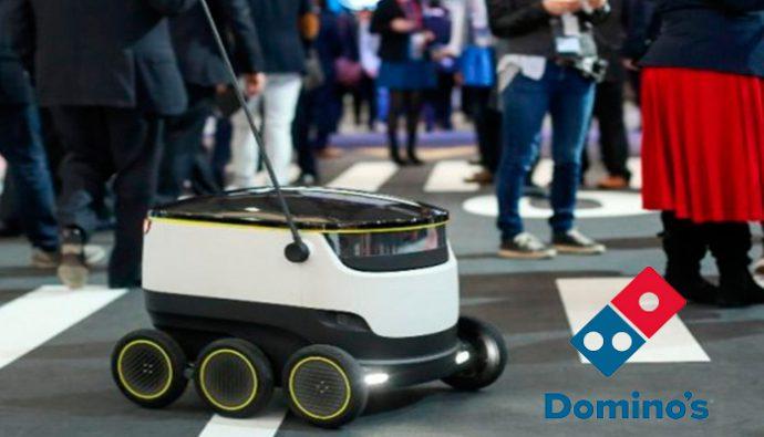 Domino's Europa entregará pizzas a domicilio con robots