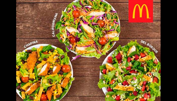 McDonald's presenta sus tres nuevas ensaladas