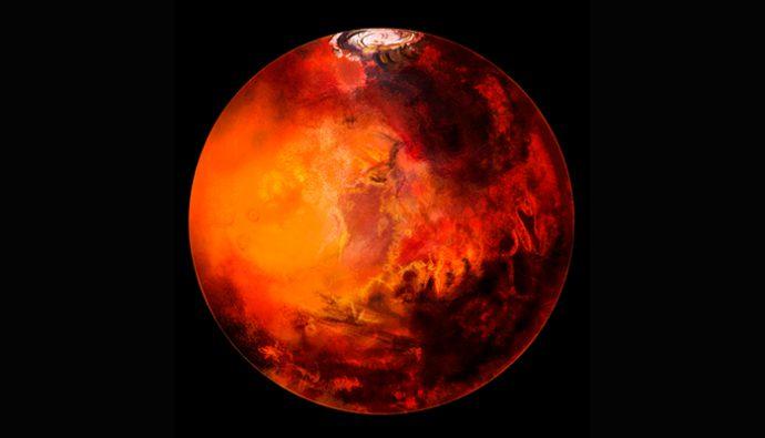 NASA descubre extraños círculos en la superficie de Marte