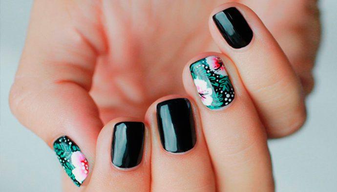 Tendencias florales para uñas en primavera 2017
