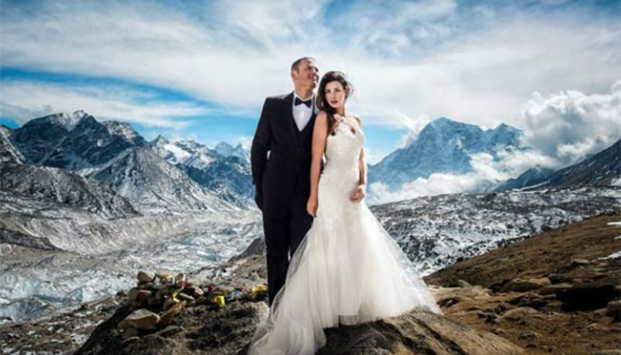 Pareja elige el Everest como escenario para su boda