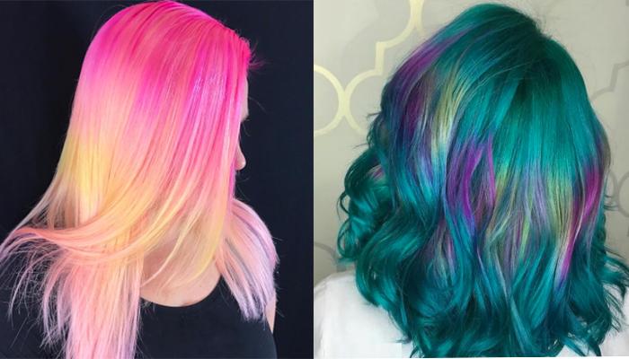 """""""Shine Line"""", la nueva colorida tendencia de cabello"""