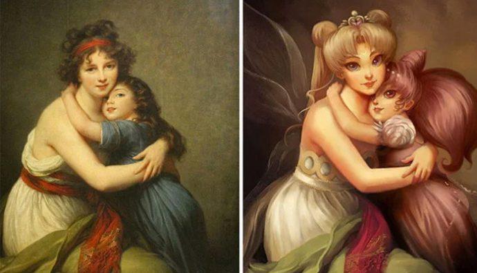 Artista transforma pinturas clásicas en caricaturas divertidas