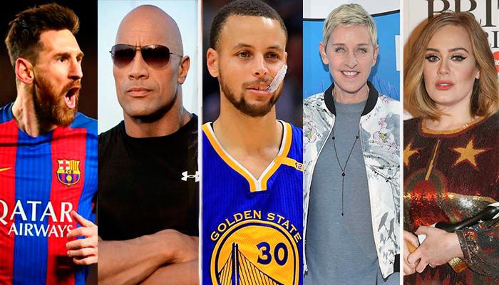 Las 25 celebridades mejor pagadas del 2017
