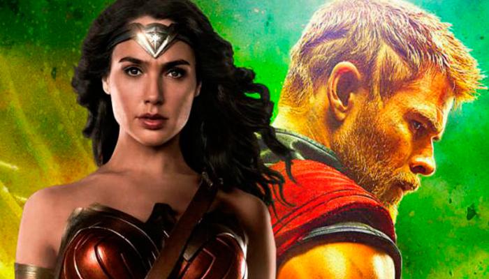 """La """"Mujer Maravilla"""" reta a """"Thor"""" y los fanáticos se vuelven locos de emoción"""