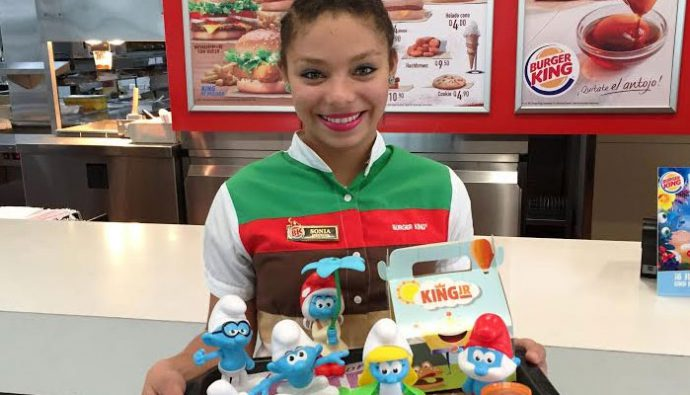 Burger King trae para ti a los Pitufos en su menú infantil