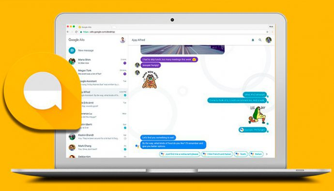 Lanzan Google Allo Web, App de mensajería instantánea para computadoras