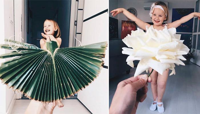 Madre hace de su hija la modelo más adorable de internet