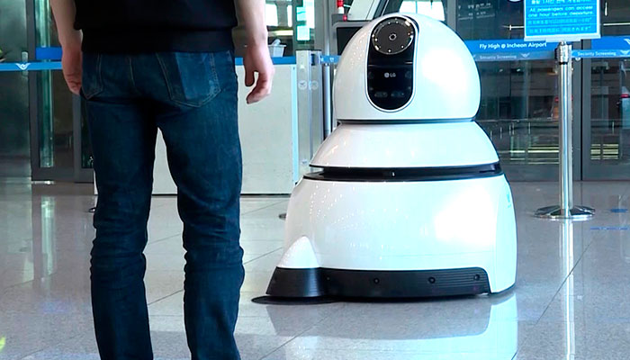 Robots  LG toman el control del Aeropuerto de Korea
