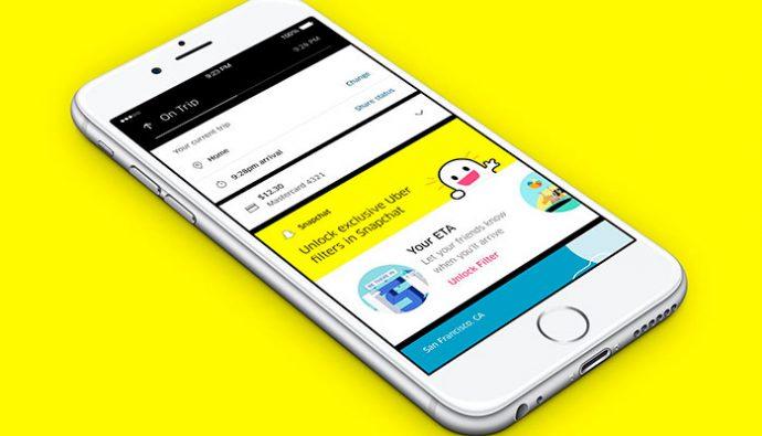 Ahora por medio de Snapchat podrás pedir directamente Uber
