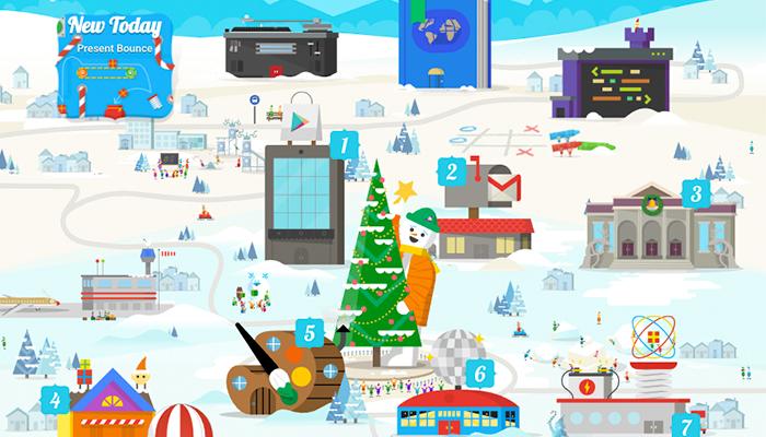 Google crea web de juegos navideños y sorpresas para esta época