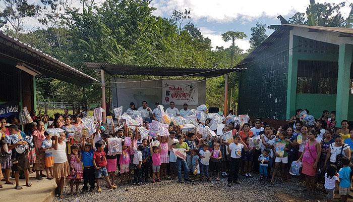 Ingenio Tululá lleva la alegría de la Navidad a niños del sur occidente