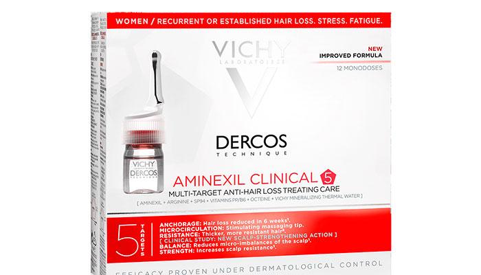 Vichy presenta el tratamiento para la caída del cabello, Aminexil Clinical 5