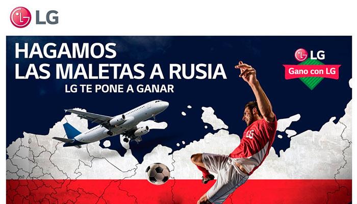 """""""Gano con LG"""" la promoción que te lleva a Rusia 2018"""
