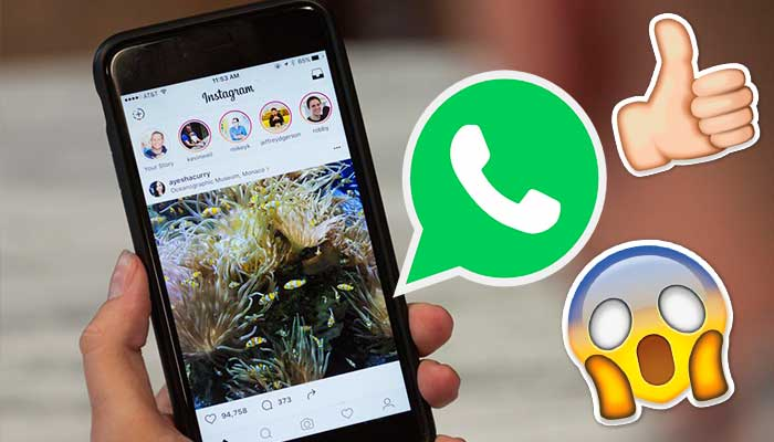 Instagram Stories podrían ser compartidas en WhatsApp