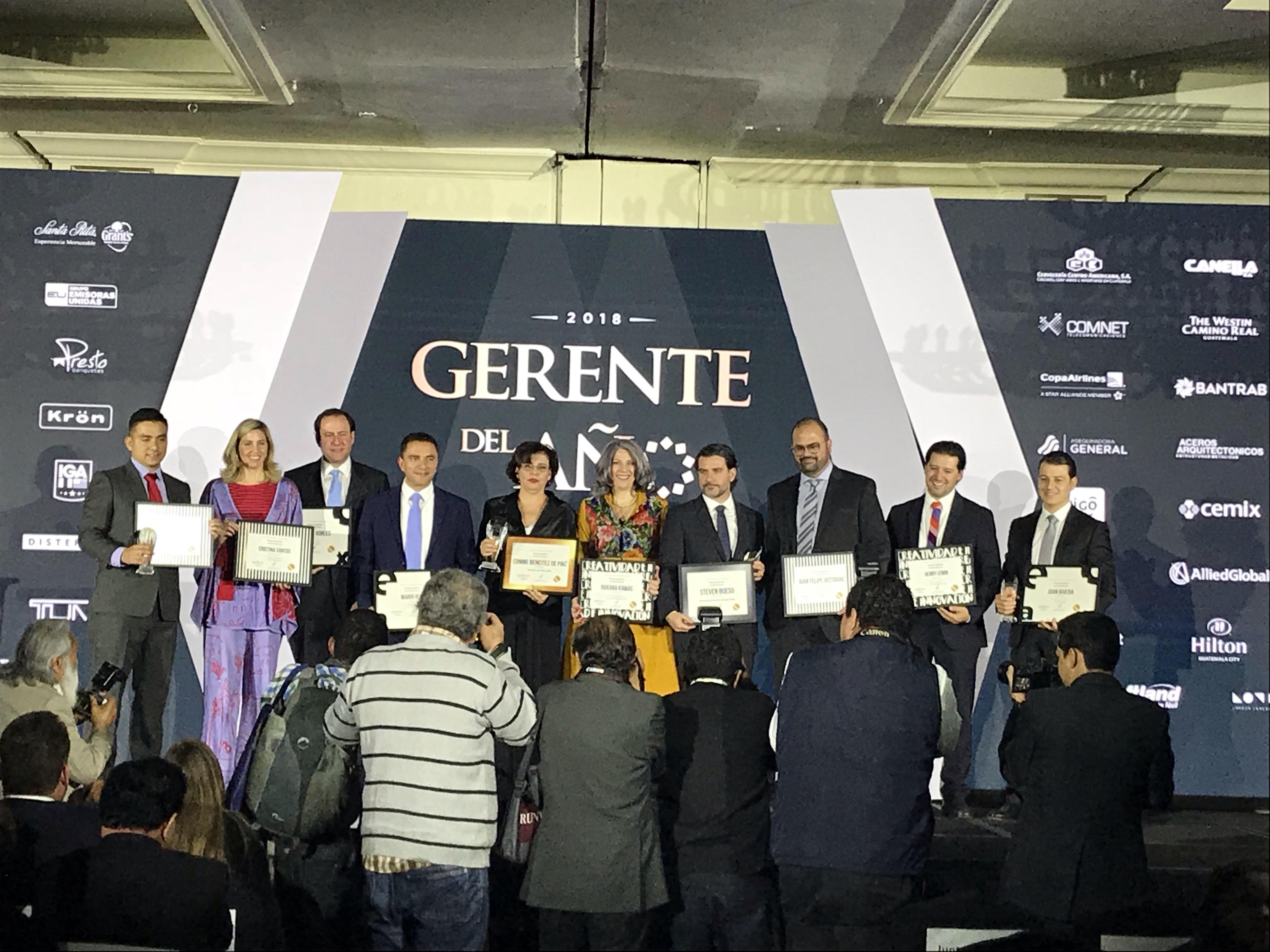 AGG reconoce a los mejores Gerentes del Año 2018