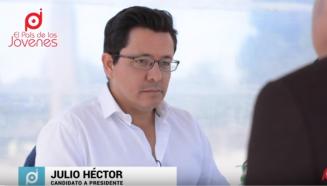 Julio Hector Estrada candidato a presidente.