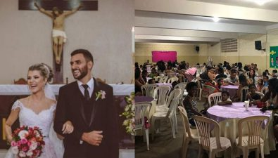 Festejan su matrimonio dando de cenar a personas necesitadas