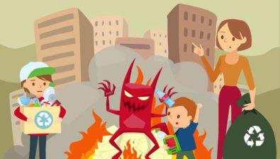 Una forma ecológica de celebrar la 'Quema del Diablo'