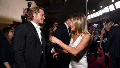Los mejores memes del reencuentro de Jennifer Aniston y Brad Pitt en los Premios SAG 2020