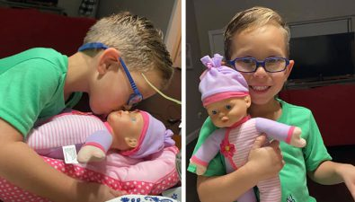 Le pidió a su mamá una muñeca porque quiere ser el mejor papá del mundo
