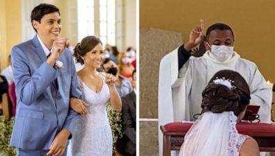 Sacerdote ofició boda en lenguaje de señas para pareja no oyente