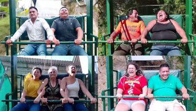 Reacciones en el Columpio Gigante de Olopa se viralizan en TikTok
