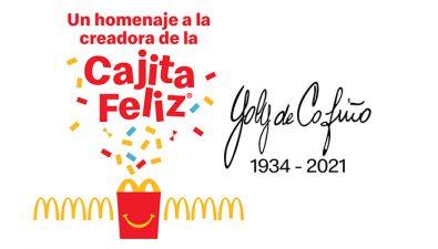 McDonald's lanza Cajita Feliz en honor a su creadora Yolanda de Cofiño