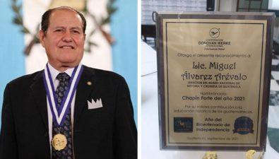 Miguel Álvarez Arévalo recibe el galardón 'Chapín Forte 2021' por Donovan Werke Internacional
